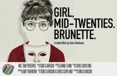 Girl, mid-twenties. Brunette.